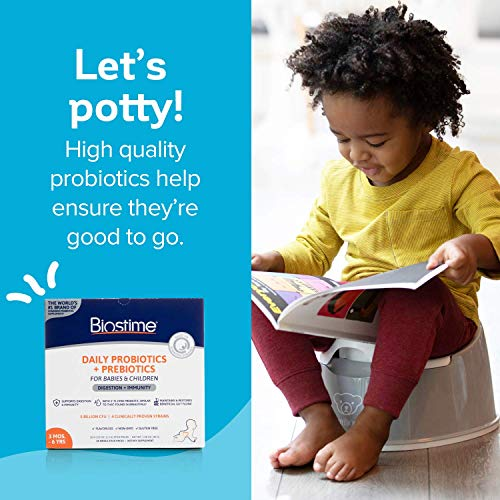 Biostime Probiotic for Baby, Kids & Infants | Daily HMO Powder Supplement Supports Digestion, Gut Flora & Immunity | 28 Single Stick Packs