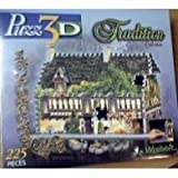 Puzz 3D Tradition Collection 25 Steeple Road 225 Piece Puzzle by Wrebbit