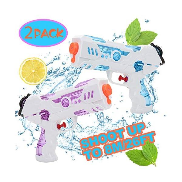 KATELUO Pistole ad Acqua, 2 PCS 250ML Pistole ad Acqua Giocattolo Blaster per Piscina Estiva All'aperto Divertimento… 1 spesavip