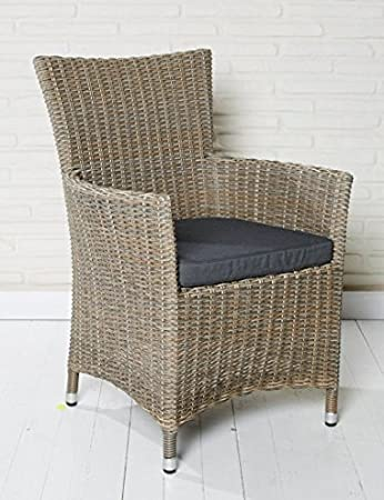 Wunderbar 6x Hochwertiger Polyrattan Gartenstuhl Aluminium Gestell Sessel Rattan  Stuhl Gartenstühle Gartenmöbel Grau Braun Meliert