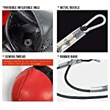 Wesing Double End Striking Bag Leather Boxing Speed Ball Bag