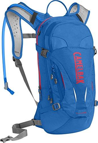 CamelBak L.U.X.E. Crux Reservoir Hydration Pack, Carve Blue/Fiery Coral, 3 L/100 oz - Nv 100 Ounce Pack