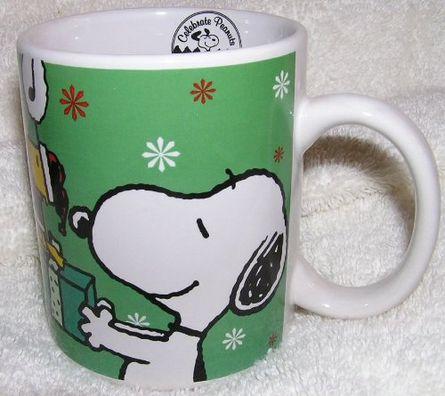 Peanuts Snoopy and Woodstock Christmas Ceramic Coffee Mug - Peace on Earth