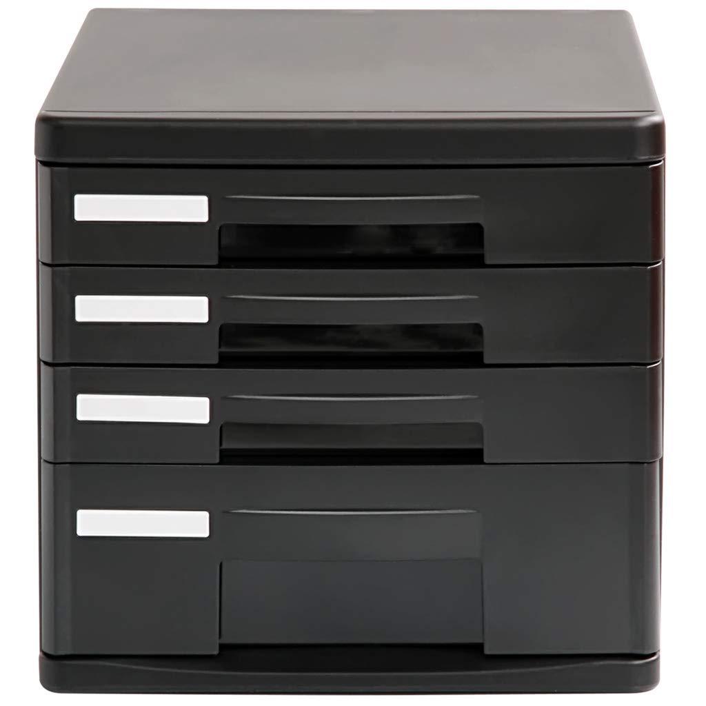 File cabinets LITING Desktop Four-Tier Storage Cabinet Storage Box Drawer File Finishing