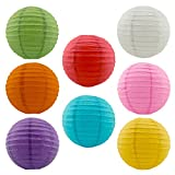 8 Assorted (Different) Color Chinese/japanese Paper Lanterns/lamps 12'' Diameter