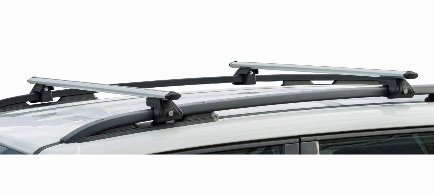 Relingtr/äger CRV135 kompatibel mit Skoda Fabia Scout ab 09 VDP Dachbox BA320 carbonlook