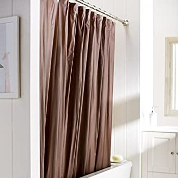 Amazoncom Solid Chocolate Brown Vinyl Shower Curtain Liner Heavy