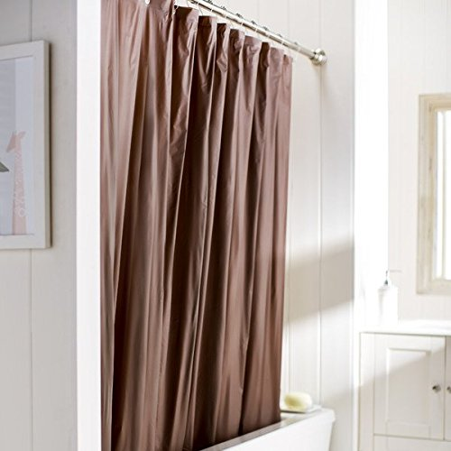 United Linens 10 Gauge HEAVY DUTY shower Curtain Liner brown,70x72, PEVA,Mildew Free, Resistant,Mold Resistant ,Eco Friendly,Vinyl,No Chemical Odor liner 70 x 72