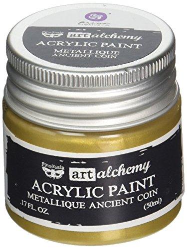 Prima Marketing 963057 Finnabair Art Alchemy Acrylic Paint, 1.7 fl. oz, Metallique Ancient Coin