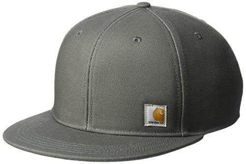 2 Tone Velcro Closure Cap - Carhartt Men's Ashland Flat Brim Cap, Gravel, OFA