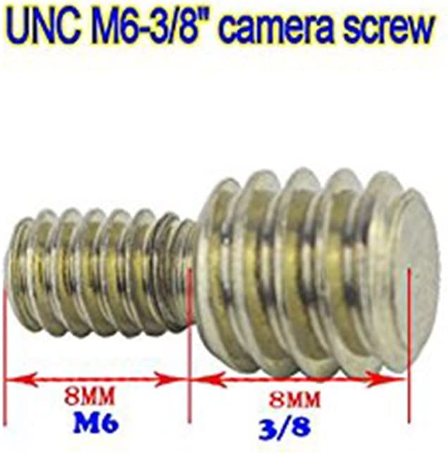 M6 /& 3//8 High Strength Conversion Adapter Screw for Tripod Monopod Ball Head Quick Release Plate 5pcs)