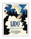 Lido Cabaret - Champs-Élysées Paris, France - Bonjour la Nuit! (Hello Night!) - Vintage Cabaret Casino Poster by René Gruau c.1971 - Fine Art Print - 11in x 14in
