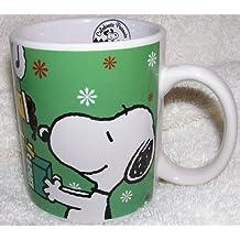 Peanuts Snoopy and Woodstock Christmas Ceramic Coffee Mug - Peace on Earth