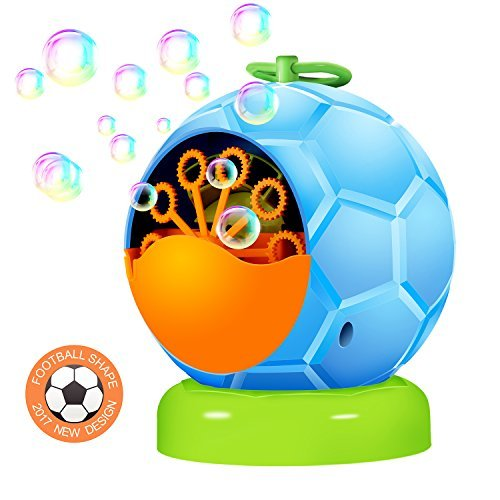 UTTORA Automatic Bubble Machine toy for kids,Durable Bubble Blower More Than 500 Bubbles per Minute for Party and Gift 4 AA Battery Operated (not include)]()