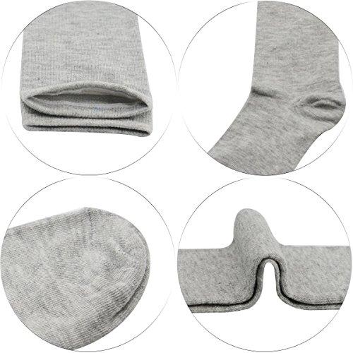 Zando Womens Casual Knee High Socks Thigh High Tube Stockings Sock 3 Pairs Black White Grey One Size by Zando (Image #3)