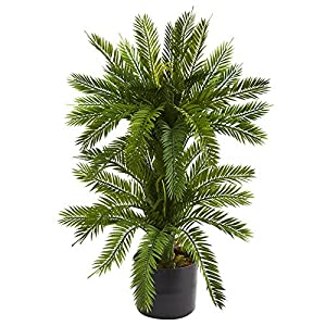 Nearly Natural 6358 Double Cycas Artificial Silk Plants Green 73