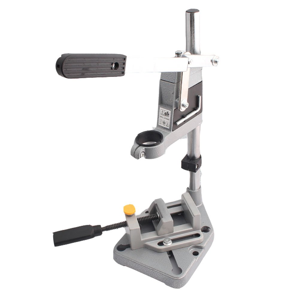 Drill Stand Vise Set Press Bench Clamp Drilling Tool Workbench Collet Repair Electric Work Station Aluminum Workshop