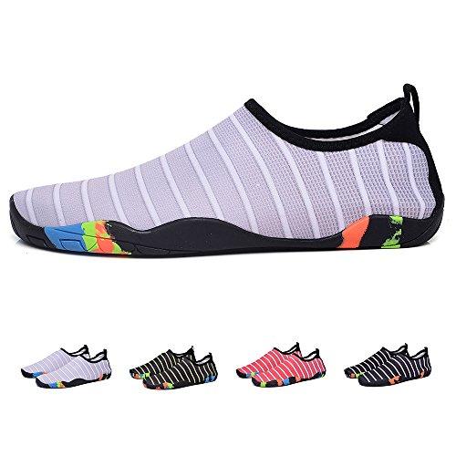 Water Men Shoes Flats Barefoot Grey Swim for Dry Shoes Sports Flexible Quick YUTUTU Women Beach Kids Fqwvd7HF