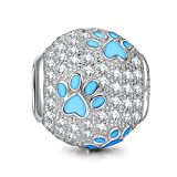 Kyпить NinaQueen Puppy Paw 925 Sterling Silver dog Animal Bead Charms fit pandöra charms for pandöra bracelets, birthday anniversary gifts for her teen girls kids women wife daughter mom на Amazon.com