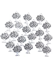 DQX Antique Silver Jewelry Making Charms 16x21mm Life Tree Symbol Pendant Bracelet Ancient Findings Craft Supplies