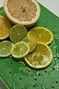 Simpleware Flow Juice Catching Cutting Board Slim Non Slip  - Green/Green