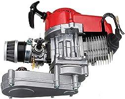 49cc 2 Stroke Pocket Mini Dirt Bike ATV Engine Motor w//Gear Box 14T T8F Chain Recoil Pull Start Handle Bar Throttle Cable for Pockt Mini Bike Scooter ATV