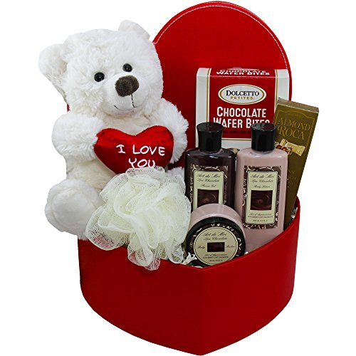Cuddles & Kisses Chocolates Spa & Teddy Care Package (Mothers Day Flowers And Chocolates)