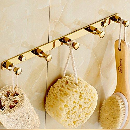 IYUEGO Gold Finish Brass Wall Mounted Robe Hooks