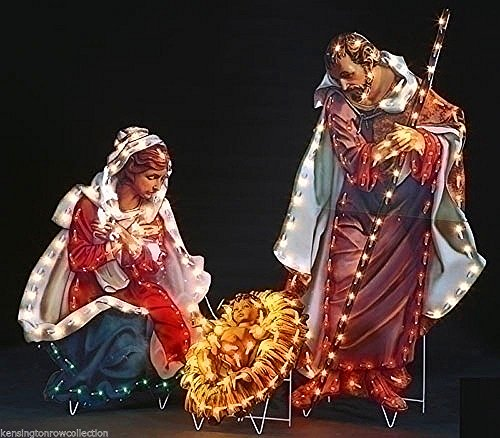 OUTDOOR CHRISTMAS DECOR - FONTANINI HOLY FAMILY YARD DECOR - 200 LIGHTS by Kensington Row Christmas Collection (Image #1)