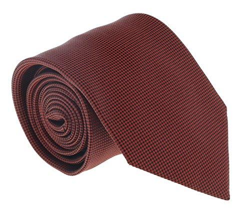 (Ermenegildo Zegna Brick Red Micro Neat Tie for mens )