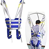 Full Body Patient Lift Slings Drive Medical Thigh Hip Waist Lumbar Back Supports Leg Standing Aids Trainers Exercise with Padded Chest Buffer Large Load Capacity 504 Lbs AnyBack