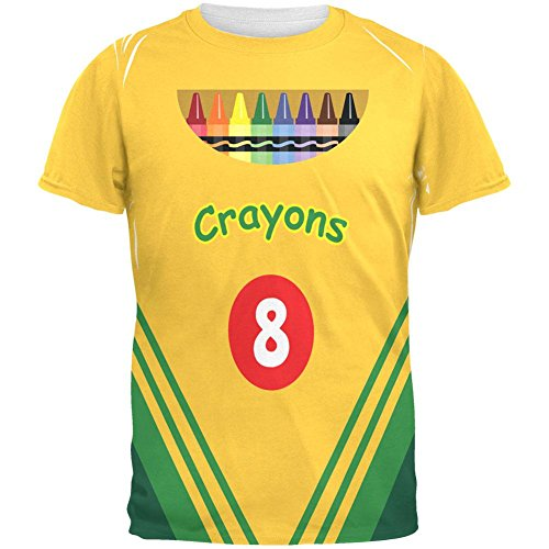 Halloween Crayon Box Costume All Over Adult T-Shirt