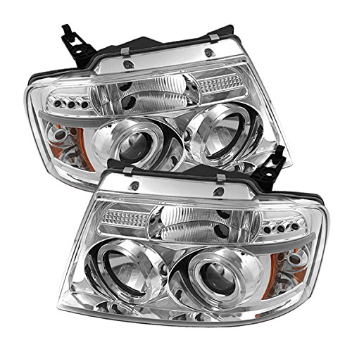 Spyder Auto Ford F150 Version 2 Chrome Halogen LED Projector Headlight
