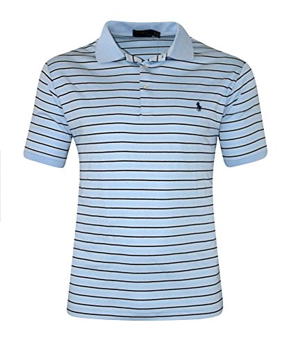 Polo Ralph Lauren Men's Big & Tall Striped Pima Soft-touch Polo Shirt BLUE (4XLT)