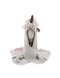 JXClothing Winter Children Knitted Hat Scarf Pocket Kids Woolen Coif Unicorn Beanie