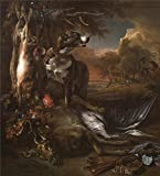 Oil Painting 'Jan Weenix A Deerhound With Dead Game And Implements Of The Chase ' Printing On Perfect Effect Canvas , 20 X 22 Inch / 51 X 56 Cm ,the Best Gym Decor And Home Decoration And Gifts Is This High Quality Art Decorative Prints On Canvas