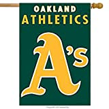 Party Animal Oakland Athletics Embroidered Premium Banner Indoor/Outdoor House Flag