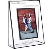 J Devlin Pic 319-46V EP554 Personalized Sister Picture Frame Tabletop 4 x 6 Vertical Photo Engraved Glass Keepsake Gift