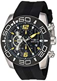 Invicta Men's 'Pro Diver' Quartz Stainless Steel and Silicone Casual Watch, Color:Black (Model: 22809)