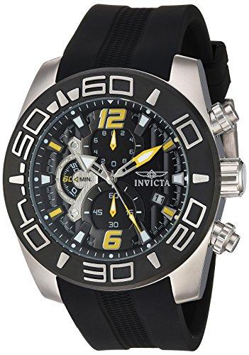 Invicta Men's 'Pro Diver' Quartz Stainless Steel and Silicone Casual Watch, Color:Black (Model: 22809) by Invicta