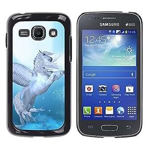 TopCaseStore / la caja del caucho duro de la cubierta de protección de la piel - Pegasus Wings Blue White Horse Animal - Samsung Galaxy Ace 3 GT-S7270 GT-S7275 GT-S7272