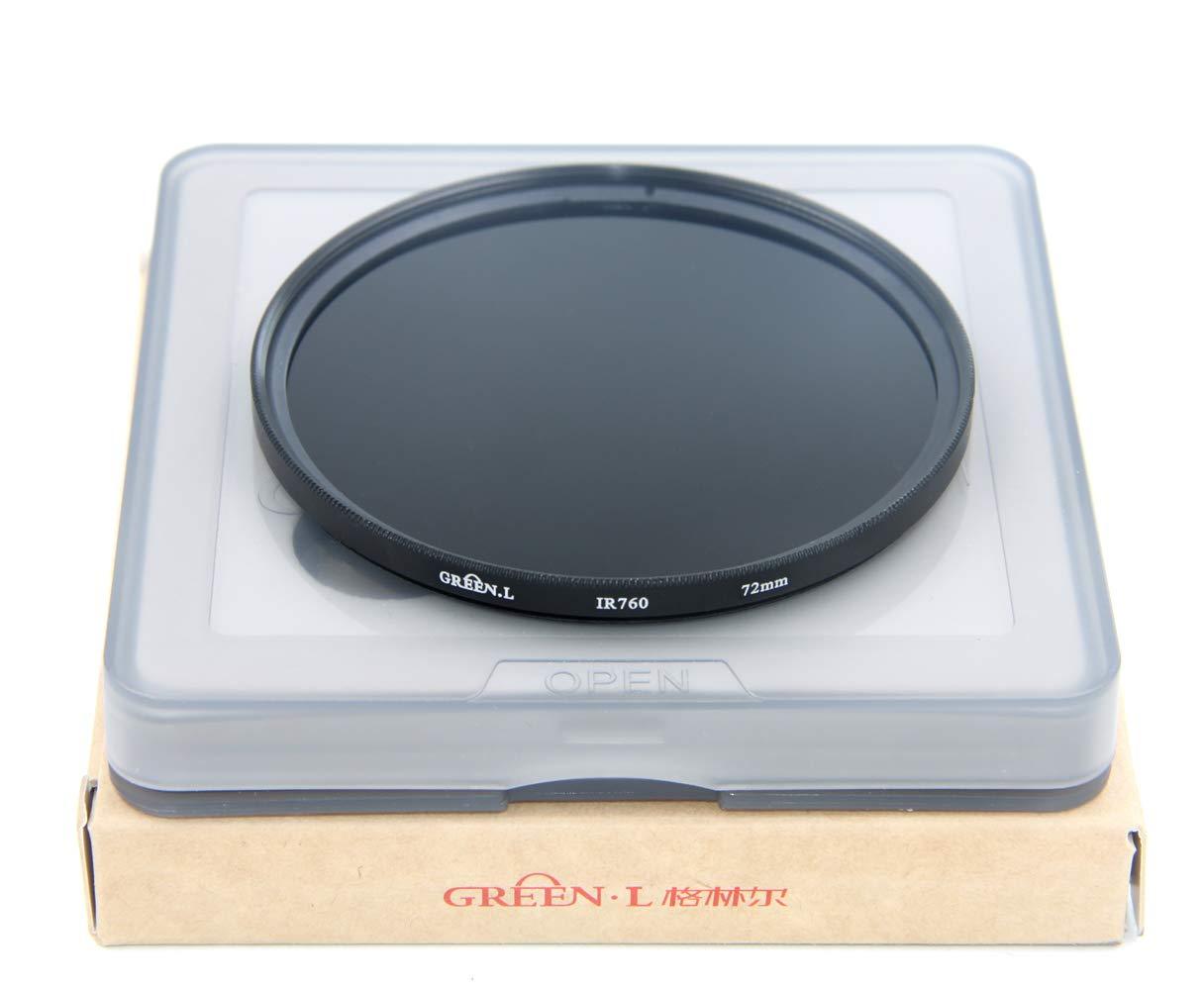 GREEN.L IR760 Filtre Infrarouge en Verre Infrarouge 760 nm 72 mm