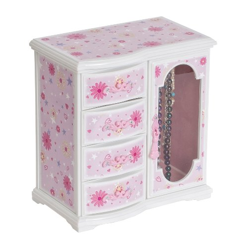 Mele & Co. Hyacinth Girl's Musical Ballerina Jewelry Box (Flowers and Hearts Design) -