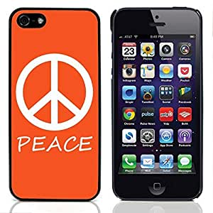 Graphic4You Peace Sign Design Hard Case Cover for Apple iPhone 5 & 5S (Orange)