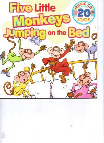 Five Little Monkeys Jumping on the Bed Book & 20 Song Music CD (Five Little Monkeys Jumping On The Bed Cd)