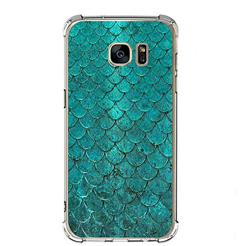 Case Compatible with Galaxy S7 S7 Edge Ultra Slim Protective Clear Soft TPU Reinforced Corners (Samsung Galaxy S7 Edge, Green)