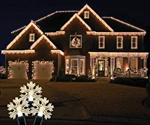 Great Queens Of Christmas S ICSNWW IW Snowflake Icicle Light Set With Warm White  Lights Pictures Gallery