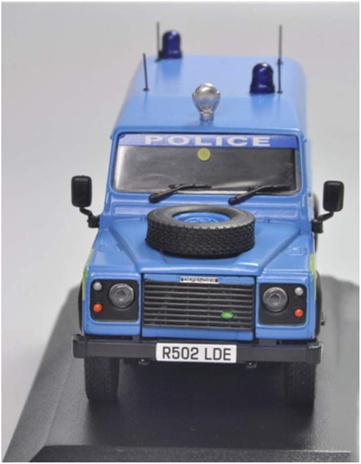 GAOQUN-TOY 1:43 Land Rover Defender Lega Polizia Auto Modello Decorazione Collezione Regalo Color : Blue, Size : 11 * 5 * 4cm