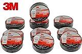 "QTY100 FRESH BOX OF 3M Temflex 1700 Black 3/4"" x"