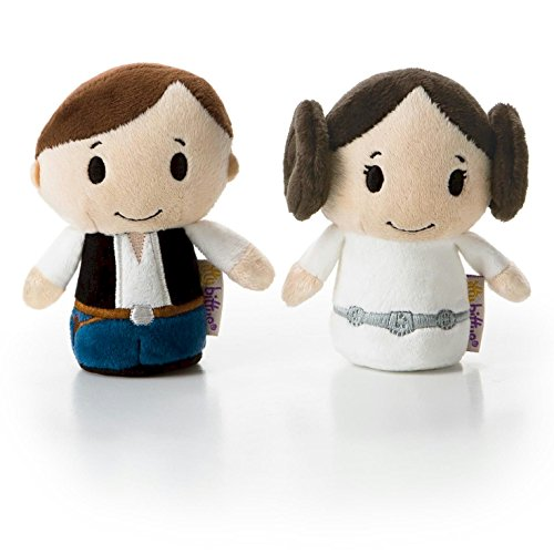 Hallmark itty bittys Star Wars Han Solo and Princess Leia Stuffed Animals